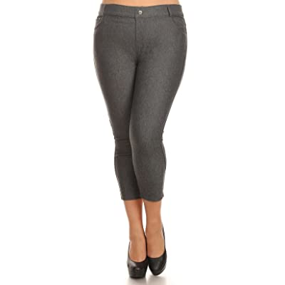 Belle Donne Solid Color Capri Jeggings For Women - Soft and Stretchy Leggings