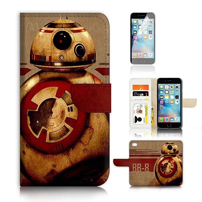 (para iphone 7/iPhone 8) tipo cartera funda y protector de pantalla Paquete