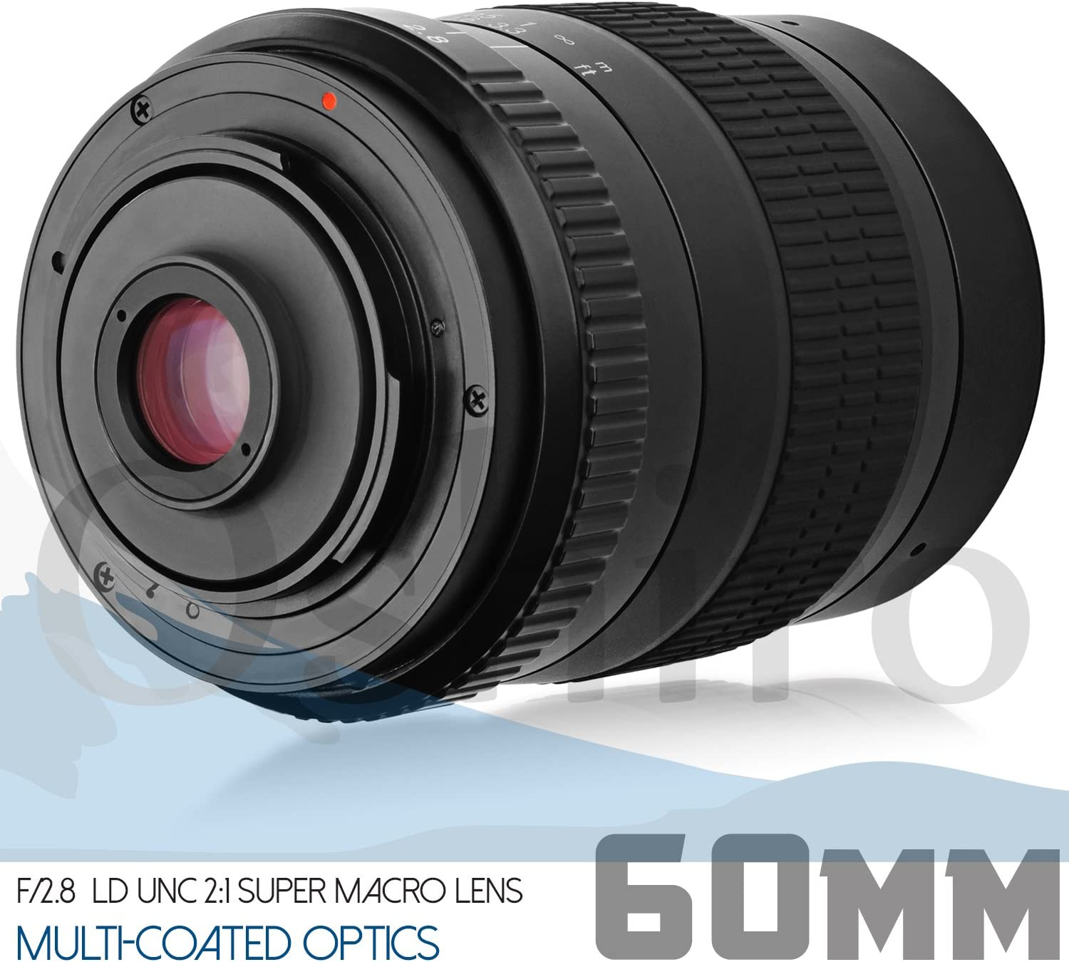7 Items Oshiro 60mm f//2.8 2:1 LD UNC Full Frame Ultra-Macro Lens for Nikon DSLR Cameras Bundle with SanDisk Ultra 32GB SDHC SDXC SD Class 10 48MB//s 320x Memory Card and Accessories