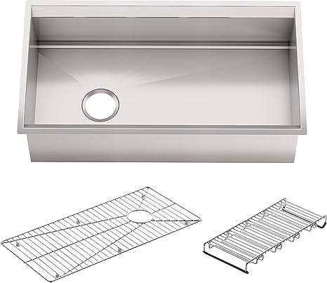 KOHLER K-3673-NA 8 Degree Large Single Kitchen Sink