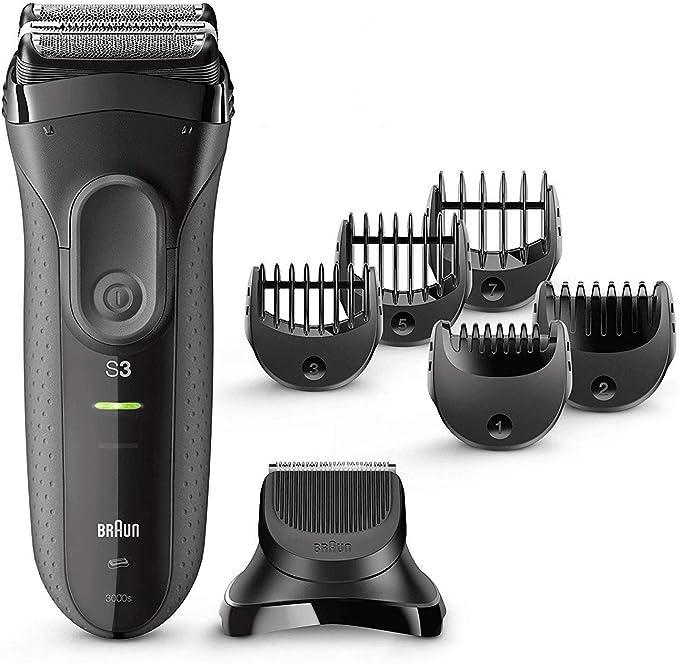 Braun Series 3 Proskin Shave&Style 3000BT, Afeitadora Eléctrica 3 en 1, para Hombre, con Recortadora de Precisión para Barba, con 5 Peines, Negro/Gris: Amazon.es ...