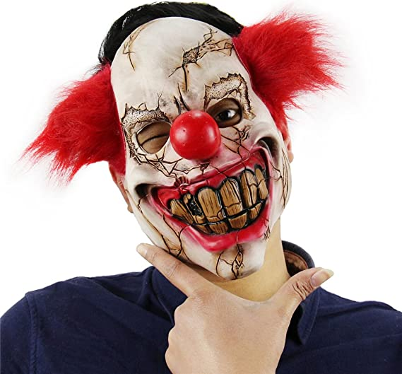 HeadMask Rubber Panto Fancy Dress Party Cosplay Halloween Adult Costume One Size