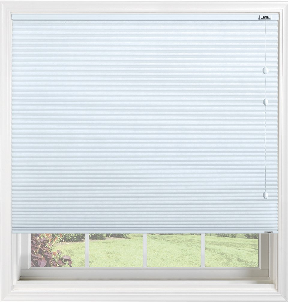 Bali Blinds 3/8'' Custom Light Filtering Cellular Shade with Cord Lift, Spa Blue, 32.5'' x 60'' by Bali Blinds (Image #1)