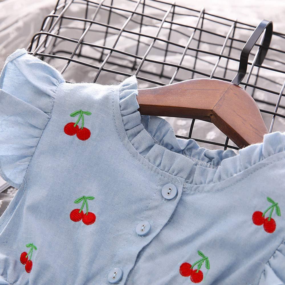 Balze Giuntura Abito Bambino Principessa Estate Manica Corta Casual Bambini Vestito Ragazze Vestiti Ragazza Bambine 2 Anni-7 Anni LEvifun Bambina Abiti Tulle Estivi