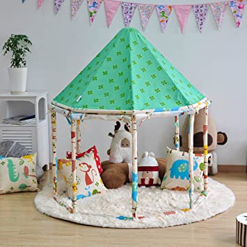 Pericross® Kids Cotton Yurt Playhouse Large Play Tents for 2-4 Children Indoor & Pericross® Kids Cotton Yurt Playhouse Large Play Tents for 2-4 ...