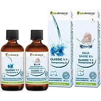 Biotraxx Classic Water Purification 1:1 Set, 1x 100ml Hydrochloric Acid 5%, 1x 100ml Sodium Solution. Made in Germany
