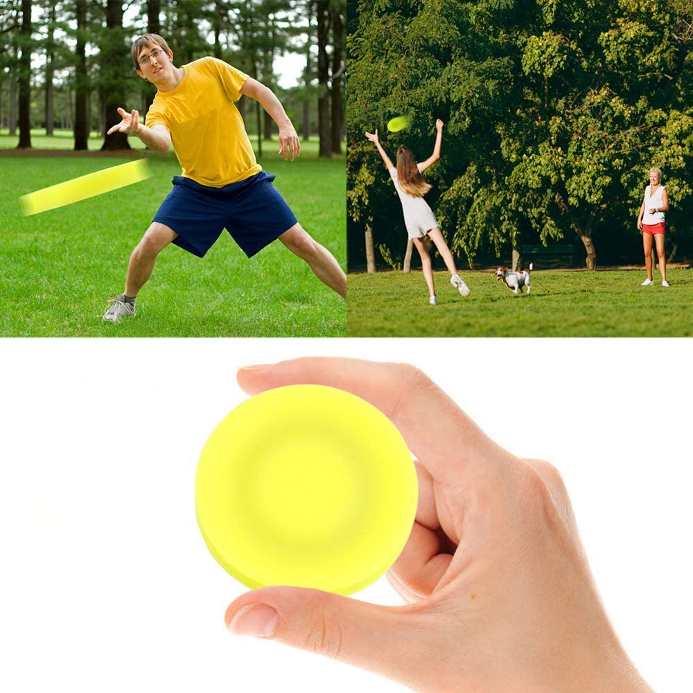 booplua Frisbee Disc Mini Pocket Soft Lightweight Flying Disc Creative Spin Catching Game Sport for Adults and Kids 1Pack