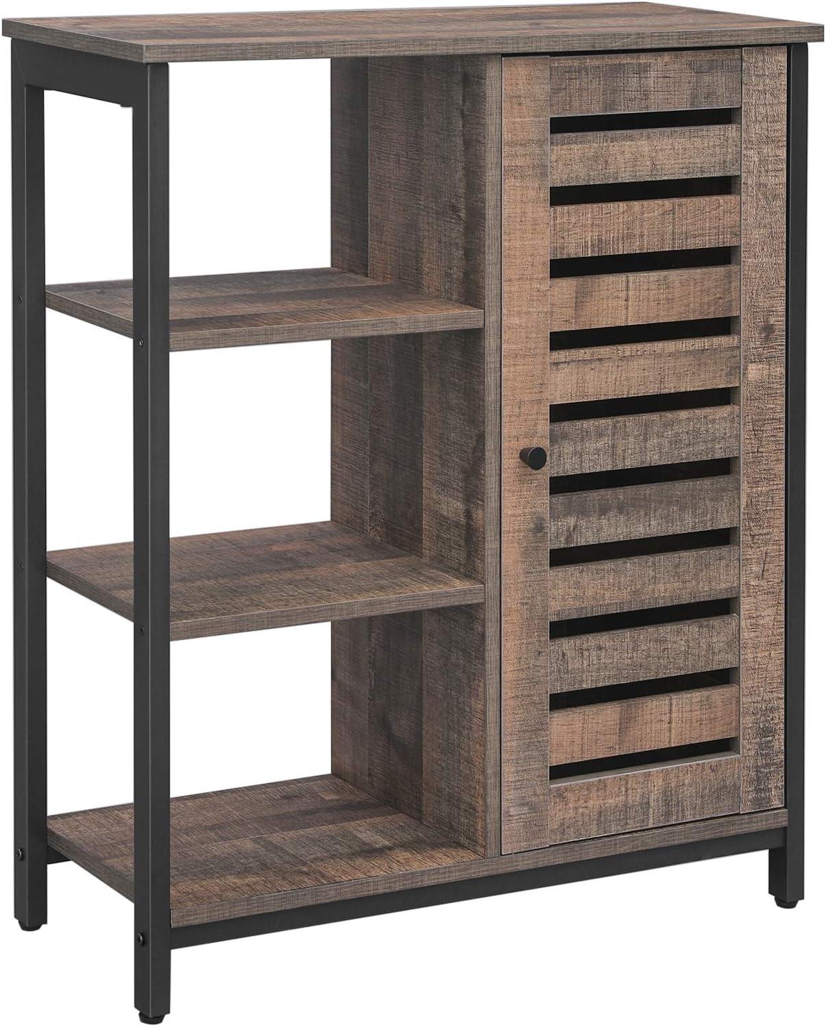 "VASAGLE Storage Cabinet, 27.6"" W, Cool Rustic Brown"