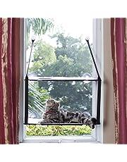 LS Katzen Hängematte Fenster Katzenbett Bis zu 25kg Stabiler Metallrahmen Weiche Matten