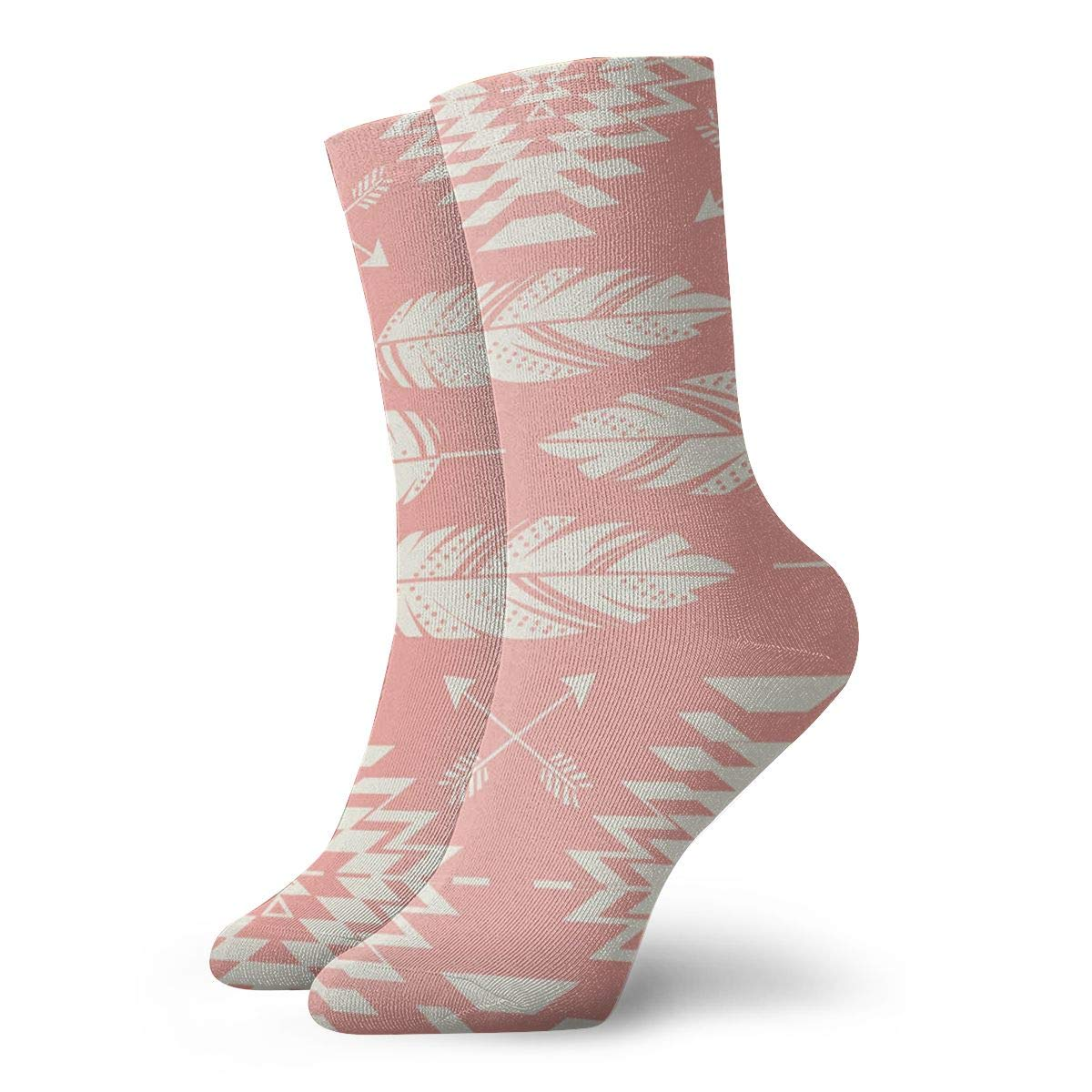 Arrow And Feather Unisex Funny Casual Crew Socks Athletic Socks For Boys Girls Kids Teenagers