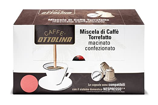 Caffè Otto Lina 60 Cápsulas apto para la máquina Cápsulas de Nespresso mezcla Audace