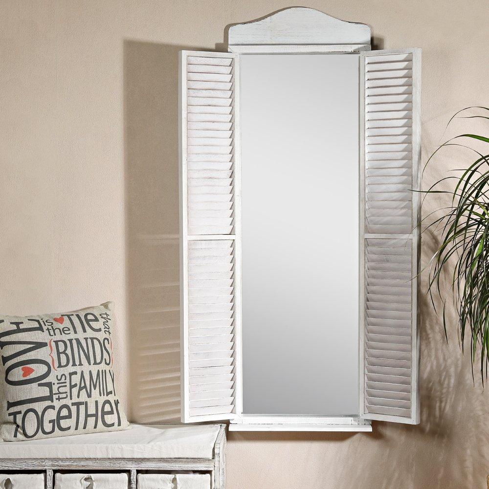 Spiegel 134 cm Fensterläden Garderobenspiegel Ankleidespiegel ...