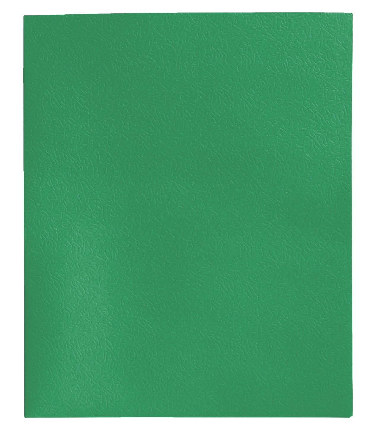 School Smart Heavy Duty 2 Pocket Folder - 8 1/2 x 11 inch - Pack of 25 - Green