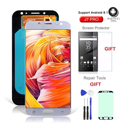 LCD Screen Replacement for Samsung J7 Pro SM-J730G/DS,Galaxy J730F J730G  J730GM J730DS Super AMOLED LCD Display Screen and Touch Screen Digitizer