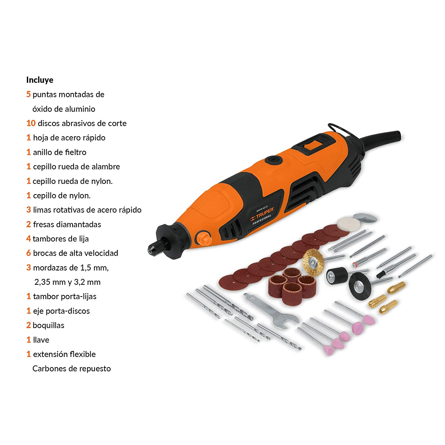 Amazon.com: TRUPER CARB-PULA-7A3 Replacement Carbon Brushes for 7
