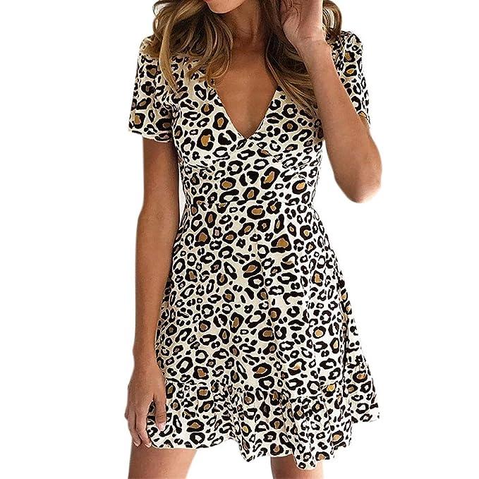 Vestido para Mujer, Vestidos Mujer Casual Verano 2019 Boho Vestidos Cortos Mujer Verano Vestido Playa Mujer Vestido de Playa Ropa de Mujer en Oferta