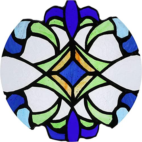 Alivagar Stained Glass Hyde Street Window Hangings SunCatcher Windows Treatment 8 L x 6 1 2 W