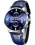 MEGALITH Relojes Hombre Militar Negro Acero Inoxidable Relojes Grandes Hombre Cronografo Analogico Reloj de Pulsera…
