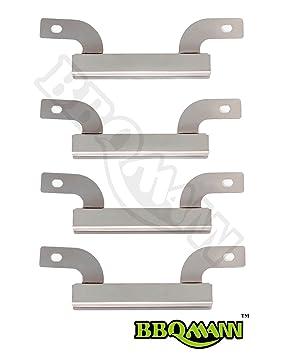 Barbacoa de gas partes Factory 09423 (4-Pack) cruce de tubo de acero inoxidable de repuesto para Select modelos Gas parrilla de Brinkmann y otros: ...