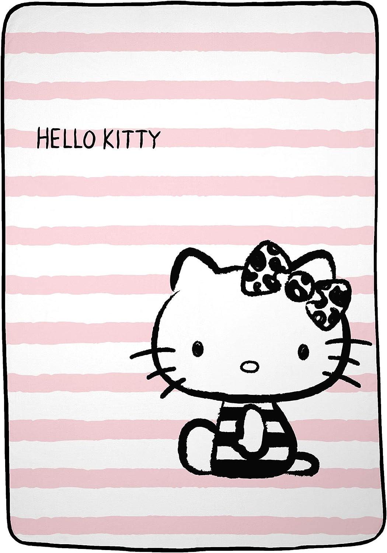 "Franco AB0298 Kids Bedding Super Soft Plush Microfiber Blanket, Twin/Full Size 62"" x 90"", Hello Kitty"