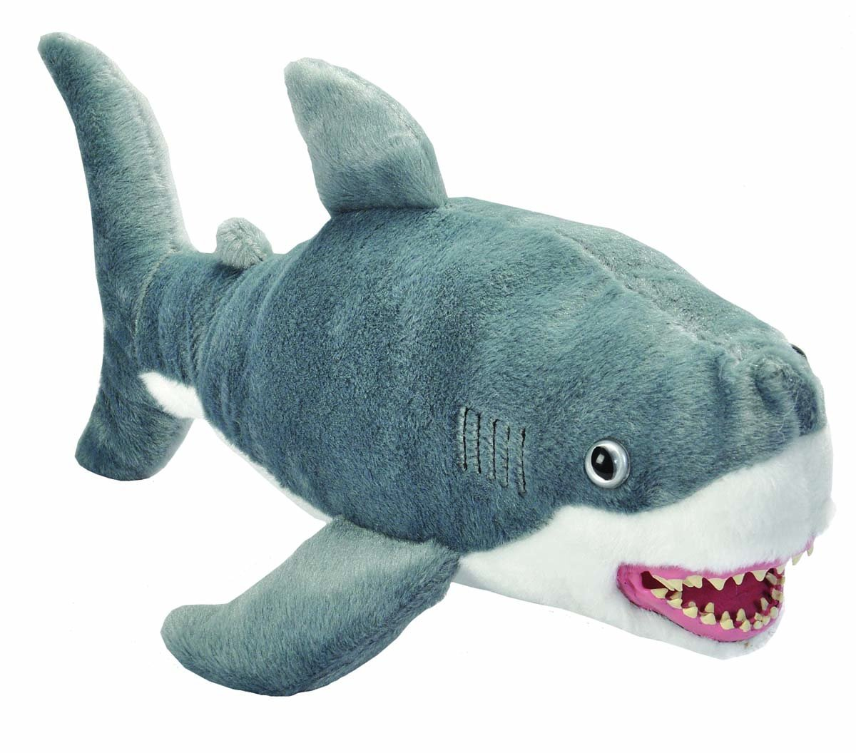 Wild Republic, Great White Shark Plush, Stuffed Animal, Plush Toy, Gifts for Kids, Predator 21""