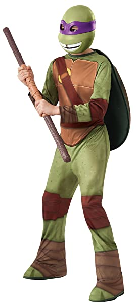 TORTUGAS NINJA - Disfraz de Donatello, para niños, talla L (Rubies 886756-L)