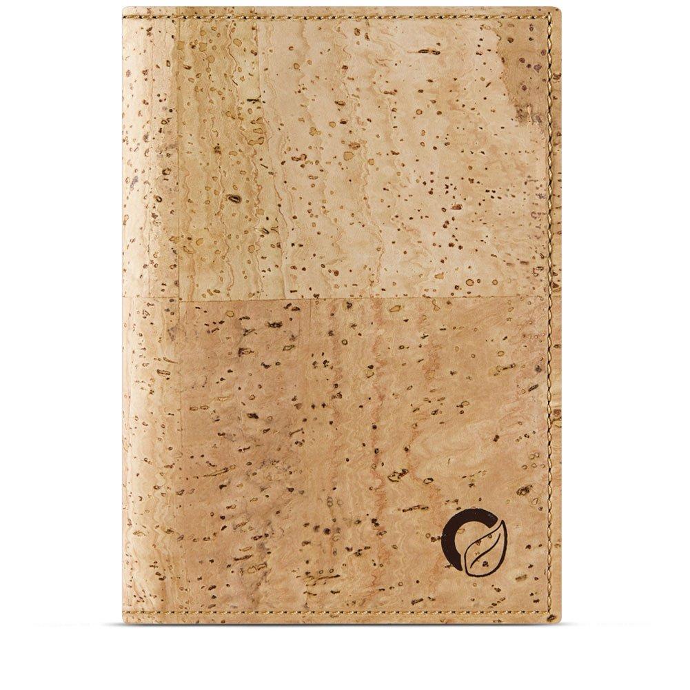Corkor Passport Wallet for Men & Woman | RFID Blocking Vegan Cork Light Brown Cork