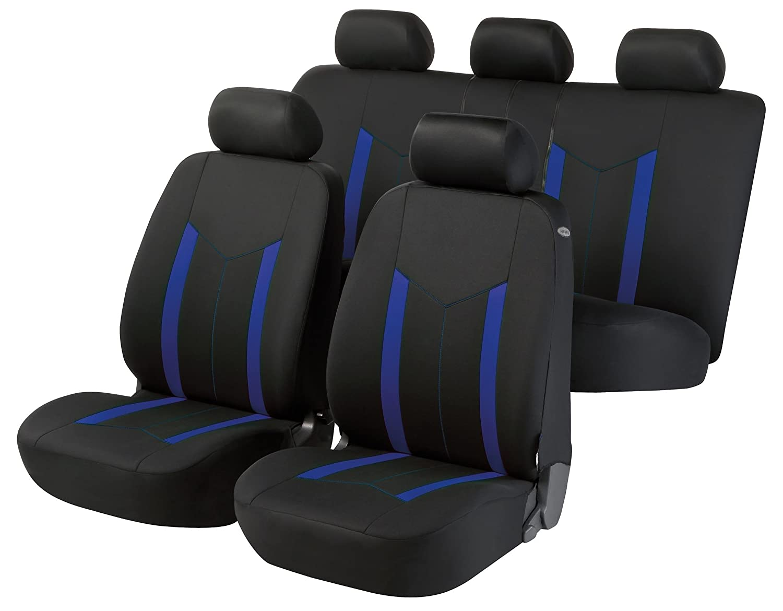 compatibili con sedili con airbag bracciolo Laterale 2009 - in Poi sedili Posteriori sdoppiabili Colore Nero Blu R19S0552 rmg-distribuzione Coprisedili per L200 Versione IV;V
