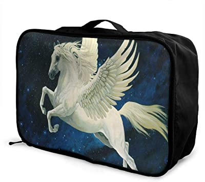 Travel Luggage Duffle Bag Lightweight Portable Handbag Unicorn Large Capacity Waterproof Foldable Storage Tote