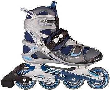 6ad05f570c6 Schreuders Sport Unisex's Nijdam Pro Line Inline Skates, Navy Dark  Grey/Light Blue,