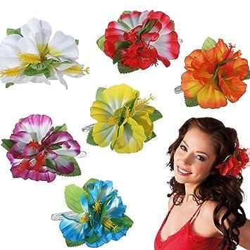 nouvelles images de nouveaux produits pour officiel Une pince à cheveux fleur hawaïenne - Vendue à l'unité ...