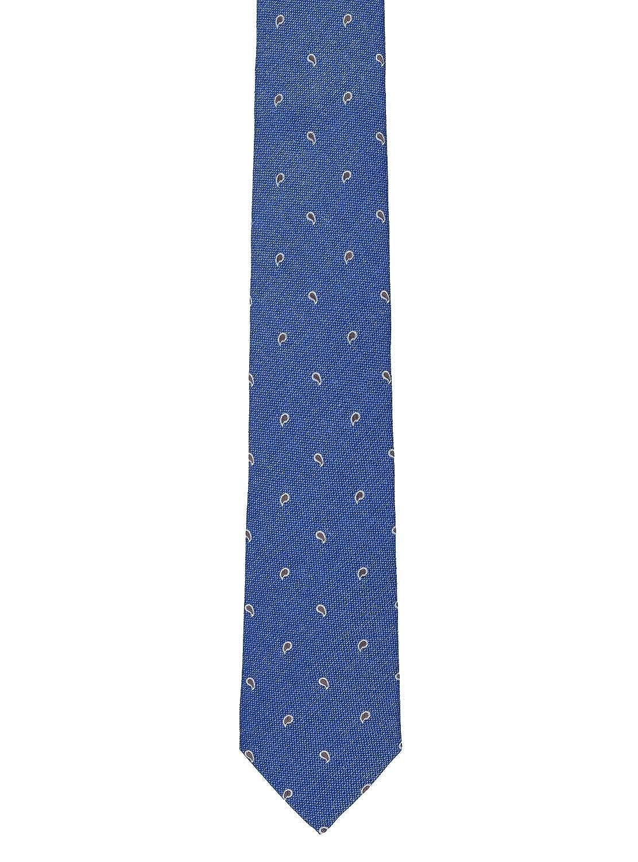Corbata Hackett SastrerÃa Silk Linen Pine azul: Amazon.es: Ropa y ...