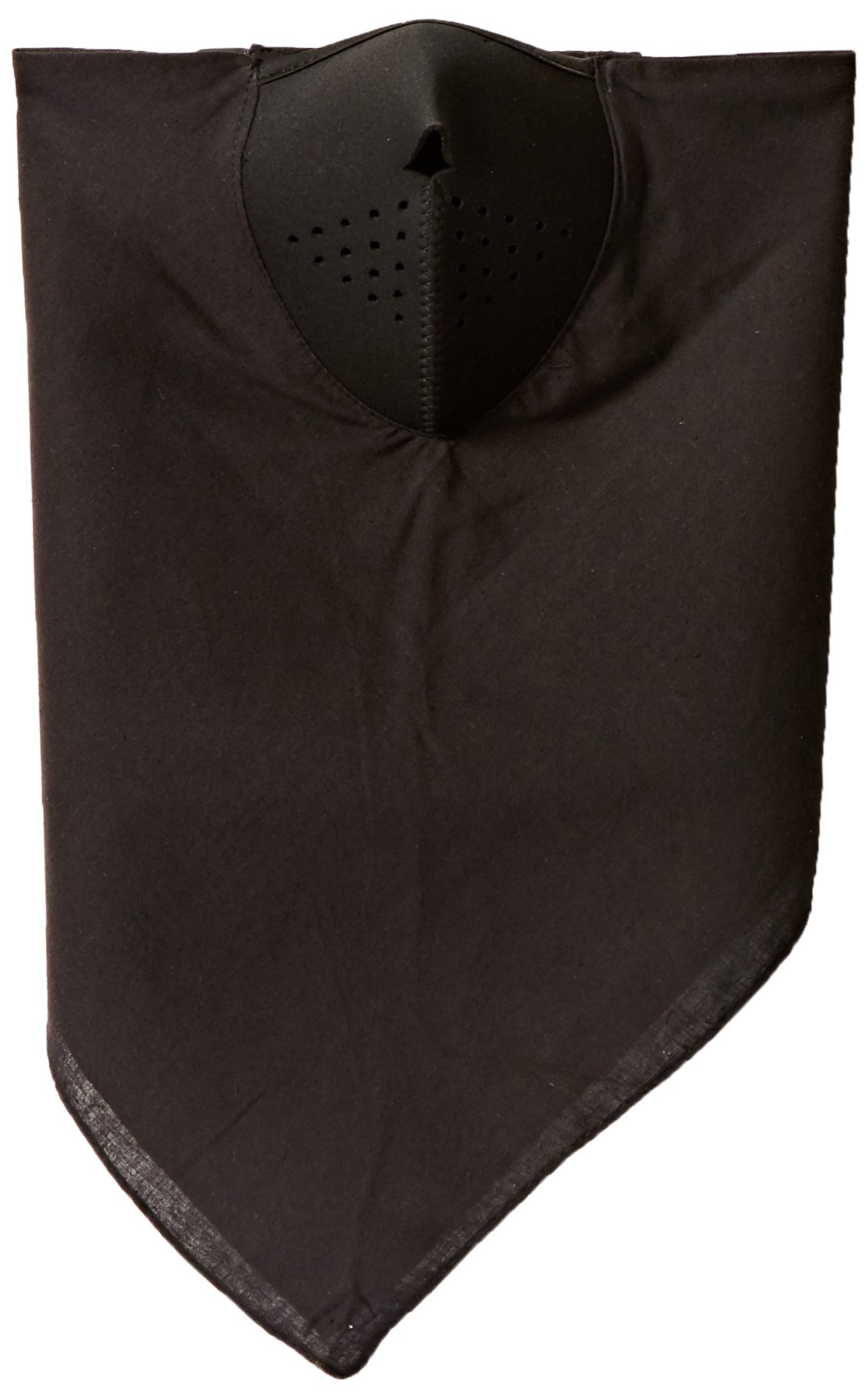 Zanheadgear WNEO114 NeoDanna Black Cotton Bandanna with Neoprene Half Face Mask