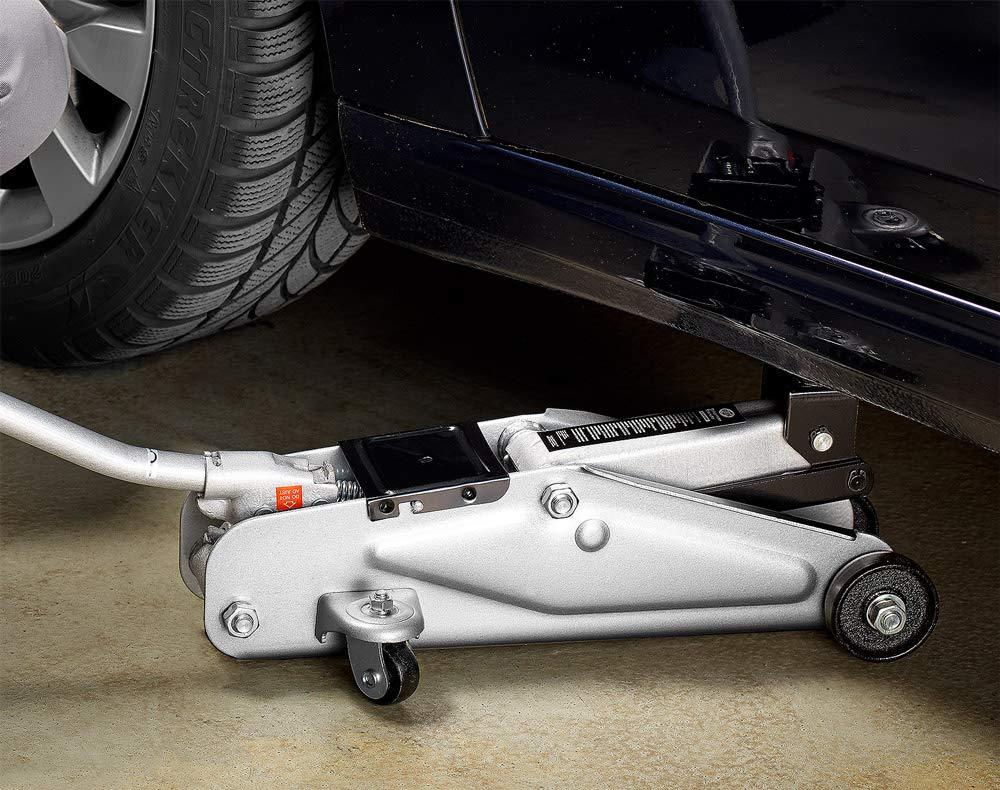 Rangierwagenheber Roll- und Lenkbar Deuba/® Hydraulischer Wagenheber inkl Gummiauflage Koffer inkl 2 Tonnen