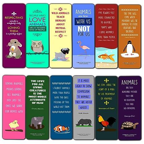 Amazon.com : Creanoso Funny Animal Lovers Sayings Bookmarks ...