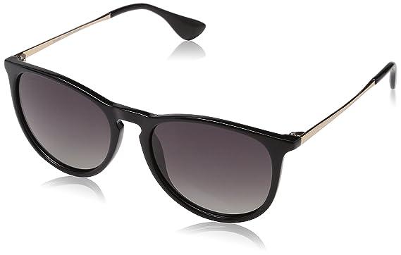 Pilgrim Sunglasses: Macon_PI: Silver Plated: Black, Montures de Lunettes Femme, (Black), 50