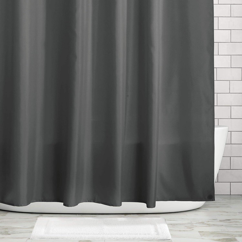 Moderna cortina decorativa impermeable con 12 ojales reforzados y peso en el dobladillo Pr/áctica cortina para ba/ñera y ducha en poli/éster mDesign Cortina de ba/ño antimoho crudo//marfil
