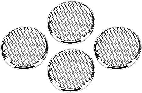 6,5 pouces kesoto Grilles Rondes dHaut-Parleur de Subwoofer Rond D/écoratif Facile /à Installer Pour Voiture