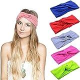 Bandeau Cheveux Nœud d'oreille de Chat Turban Noué Bande Elastique Cheveux Accessoire Cheveux pour Femme