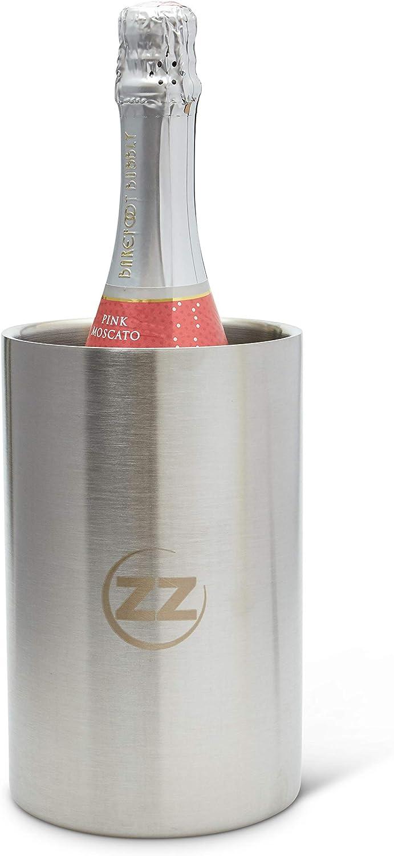 Bunzzr Stainless Steel Wine Chiller Bucket Insulated Long Lasting Wine Bottle Holder Condensation Free Wine Chiller Bottle Cooler for Indoor or Outdoor Parties