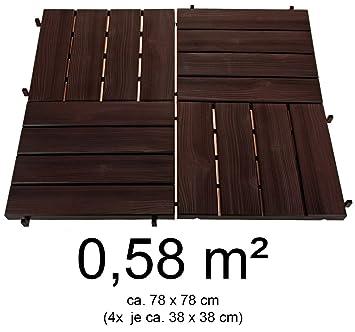 Hochwertige Terrassenplatten Aus Kunststoff In Holzoptik 0 58 M 4er