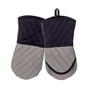 OKINDOLIFE Extra Long Hot Silicone Oven Mitts Set of 2-1 Pair Heat Resistant to 500 Degrees Kitchen Oven Gloves and Pot Holders