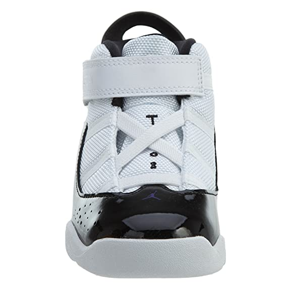 c00f27ea0a3 Amazon.com   NIKE Toddler Jordan 6 Rings Basketball Shoes White/Black-Dark  Concord 4C   Sneakers