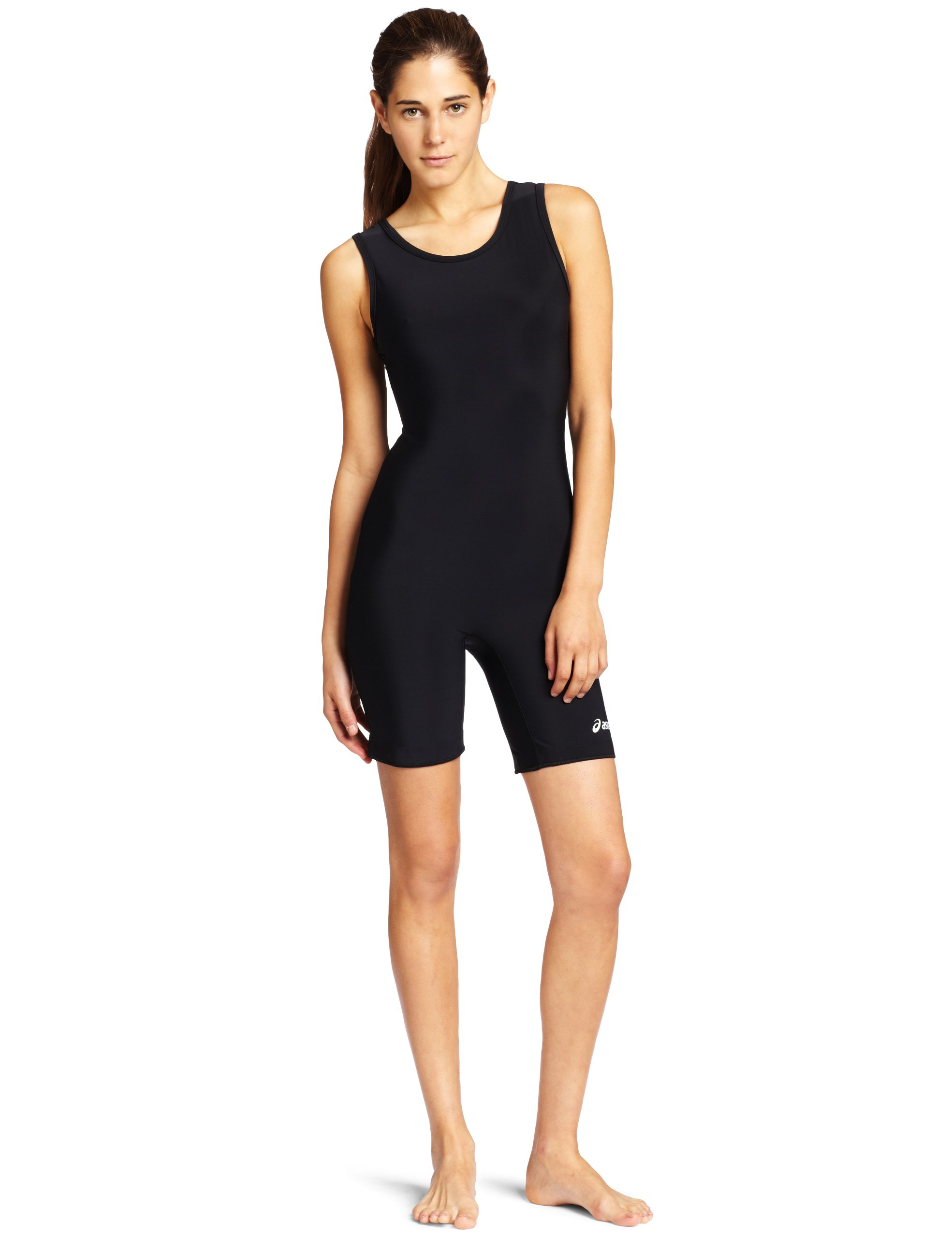 ASICS Women's Solid Modified Singlet, Black, Large by ASICS