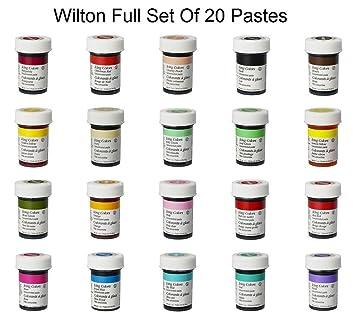 Amazon.com : Wilton FULL SET Icing Colour Color Paste Gel ...