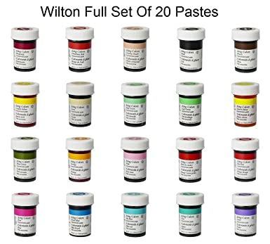 Wilton Complete Set Of 20 Food Gel Paste Colours Perfect For Every