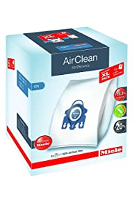 Miele AirClean 3D Efficiency Dust Bag, Type GN, Allergy XL-Pack, 8 Bags, 2 Pre-Motor Filters, and 1 HEPA Filter