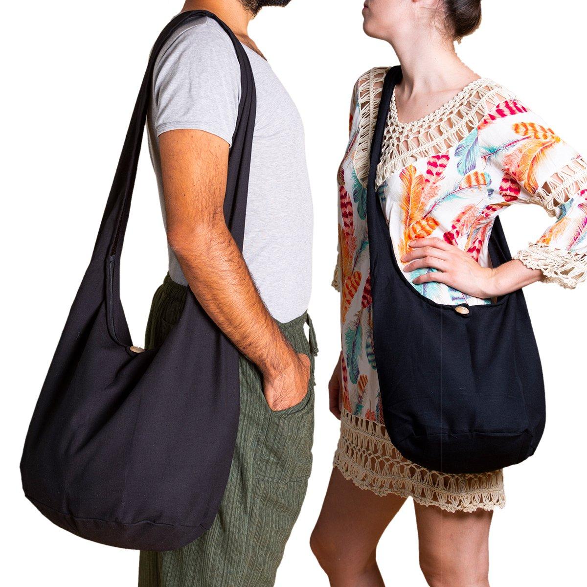talla M varios colores y dise/ños color Blanco Bolso bandolera con doble tejido y con bolsillo interior Panasiam algod/ón resistente