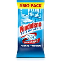 Windolene Glass Cleaner Wipes, 30-Count
