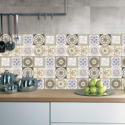 J Piastrelle per pavimento cucina   Piastrelle adesive decorazione ...